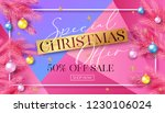 christmas sale banner template... | Shutterstock .eps vector #1230106024