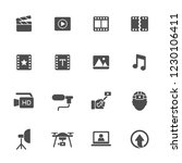 video production icons | Shutterstock .eps vector #1230106411