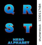 hero action alphabet   3d... | Shutterstock . vector #1230117484