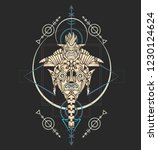 sacred geometry design with... | Shutterstock .eps vector #1230124624