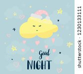 vector template night cards... | Shutterstock .eps vector #1230133111