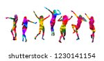disco. dancing girls. vector... | Shutterstock .eps vector #1230141154