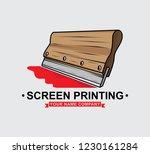 logo screen printing squeegee... | Shutterstock .eps vector #1230161284