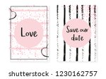 bridal shower set with dots and ... | Shutterstock .eps vector #1230162757