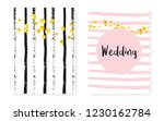 bridal shower set with dots and ... | Shutterstock .eps vector #1230162784