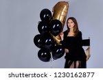 beautiful brunette girl in... | Shutterstock . vector #1230162877