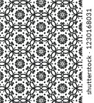elegant intricate black and... | Shutterstock .eps vector #1230168031