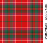 christmas and new year tartan... | Shutterstock .eps vector #1230175381