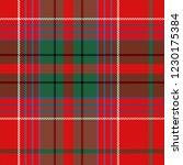 christmas and new year tartan... | Shutterstock .eps vector #1230175384