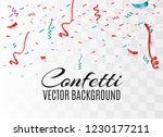 colorful bright confetti... | Shutterstock .eps vector #1230177211