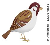 tree sparrow bird illustration | Shutterstock . vector #1230178651