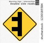 road sign. warning....   Shutterstock .eps vector #1230185584