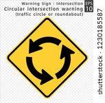 road sign. warning.... | Shutterstock .eps vector #1230185587