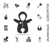baby rompers icon. set of child ... | Shutterstock . vector #1230194734