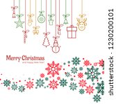merry christmas and happy new... | Shutterstock .eps vector #1230200101