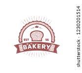 bakery king stamp logo badge... | Shutterstock .eps vector #1230201514