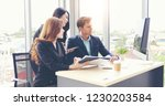 businessmen and using notebook...   Shutterstock . vector #1230203584