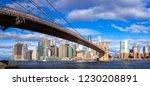 brooklyn bridge and new york...   Shutterstock . vector #1230208891