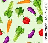 organic healthy vegetable... | Shutterstock .eps vector #1230217411
