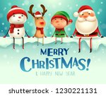 merry christmas  happy... | Shutterstock .eps vector #1230221131