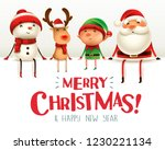 merry christmas  happy... | Shutterstock .eps vector #1230221134