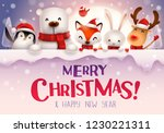 merry christmas  christmas cute ... | Shutterstock .eps vector #1230221311