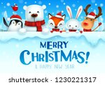 merry christmas  christmas cute ... | Shutterstock .eps vector #1230221317