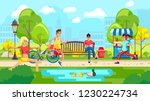 colorful vector of people in... | Shutterstock .eps vector #1230224734