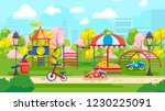 flat style of colorful... | Shutterstock .eps vector #1230225091
