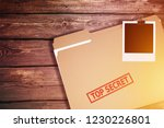 private investigator desk with... | Shutterstock . vector #1230226801