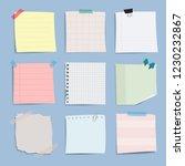 blank reminder paper notes... | Shutterstock .eps vector #1230232867