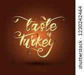 taste of turkey lettering... | Shutterstock .eps vector #1230242464