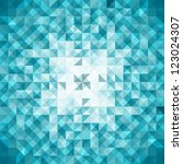 Blue Mosaic Vector Background ...
