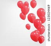 colored balloons  vector... | Shutterstock .eps vector #123024469