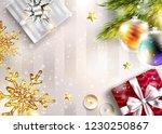 christmas vector background... | Shutterstock .eps vector #1230250867