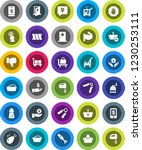 white solid icon set  cleaner... | Shutterstock .eps vector #1230253111