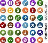 color back flat icon set  ... | Shutterstock .eps vector #1230262234