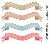 vintage banner label frame ... | Shutterstock . vector #123026704