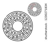 abstract round maze. game for... | Shutterstock .eps vector #1230271834