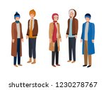 men with winter clothes avatar... | Shutterstock .eps vector #1230278767