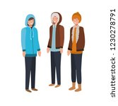 men with winter clothes avatar... | Shutterstock .eps vector #1230278791