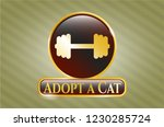 gold emblem or badge with big... | Shutterstock .eps vector #1230285724