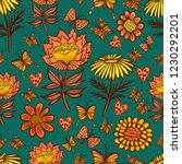 vector seamless pattern with... | Shutterstock .eps vector #1230292201
