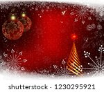 christmas red background with... | Shutterstock .eps vector #1230295921