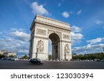 paris   circa august 2012  arc... | Shutterstock . vector #123030394