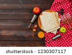 jewish holiday passover banner... | Shutterstock . vector #1230307117