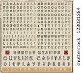 typeset of rubber stamp outline ... | Shutterstock .eps vector #123031384