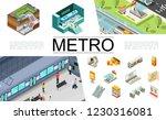 isometric metro elements... | Shutterstock .eps vector #1230316081