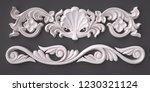 3d rendering beautiful white... | Shutterstock . vector #1230321124