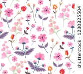 vector embroidery with cute... | Shutterstock .eps vector #1230325504
